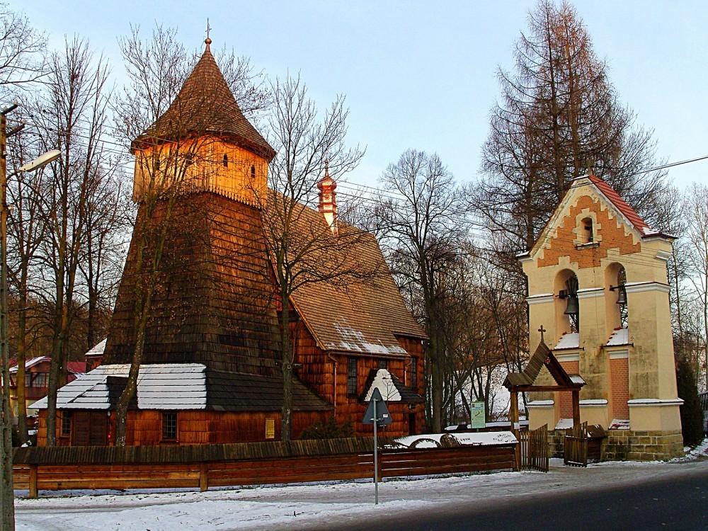 Binarowa Wooden Church in Poland