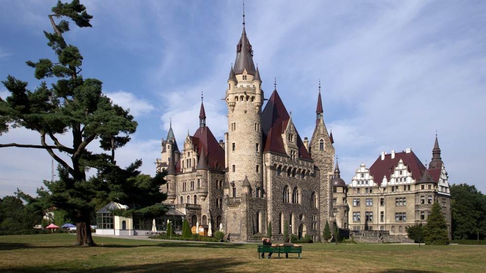 The castle in Moszna Poland