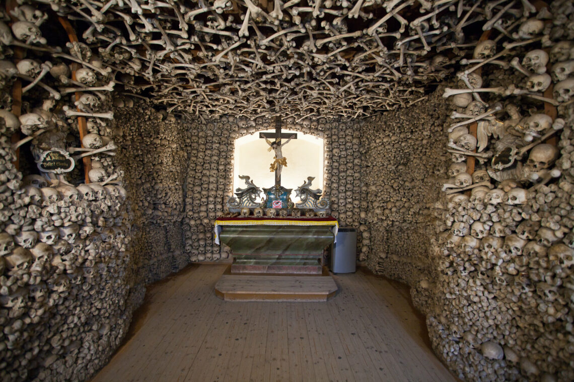 The chapel of skulls in Poland