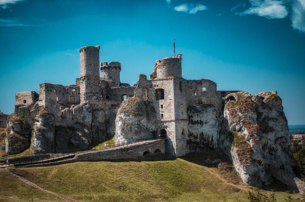 Ogrodzieniec Castle In Poland